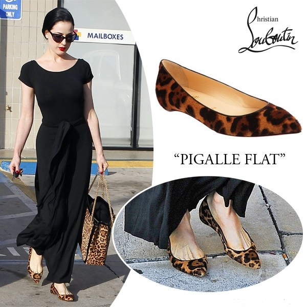 dita-von-teese-louboutin-pigalle-leopard-print-flats